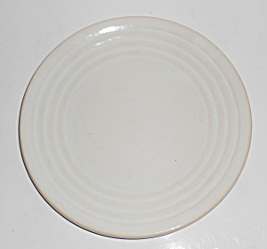 Bauer Pottery Ring Ware 1st Period WHITE Salad Plate  (Image1)
