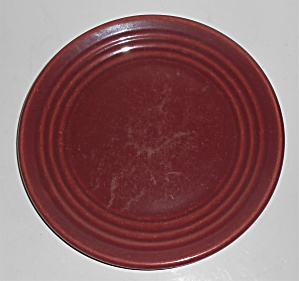 Bauer Pottery Ring Ware Burgundy Salad Plate (Image1)