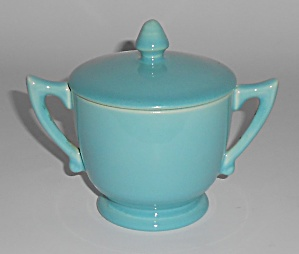 Franciscan Pottery Montecito Gloss Turquoise Demi Sugar (Image1)