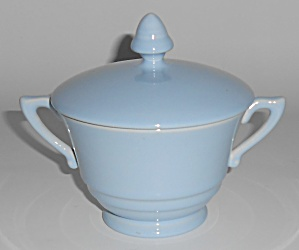 Franciscan Pottery Montecito Lt Blue Sugar Bowl w/Lid (Image1)