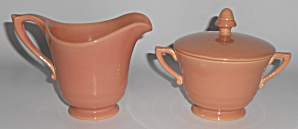 Franciscan Pottery Montecito Gloss Coral Creamer/Sugar  (Image1)