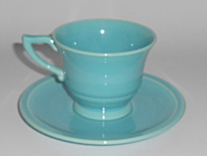 Franciscan Pottery Montecito Gloss Turquoise Cup & Sau (Image1)