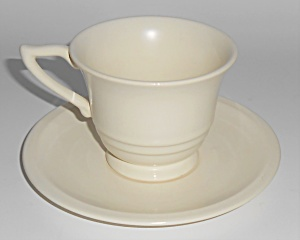 Franciscan Pottery Montecito Satin Ivory Cup & Saucer (Image1)