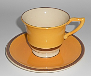Franciscan Pottery Early Mango Cup & Saucer Set (Image1)