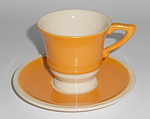 Franciscan Pottery Del Oro Demitasse Cup & Saucer Set (Image1)