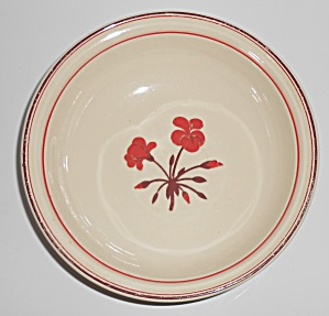 Franciscan Pottery Early Geranium Vegetable Bowl (Image1)