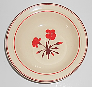 Franciscan Pottery Early Geranium Cereal Bowl (Image1)
