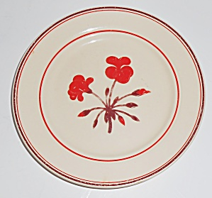 Franciscan Pottery Early Geranium Bread Plate (Image1)