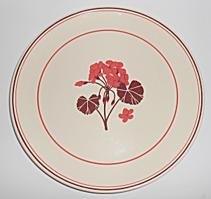 Franciscan Pottery Early Geranium Chop Plate (Image1)