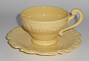 Franciscan Pottery Victoria Yellow Cup & Saucer Set