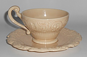 Franciscan Pottery Victoria Old Ivory Cup & Saucer Set (Image1)