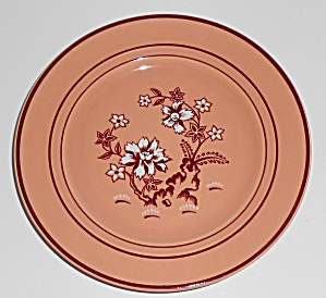Franciscan Pottery Tiger Flower Coral Bread Plate