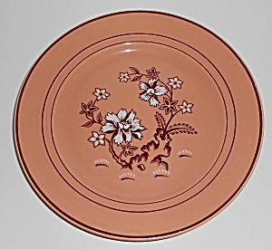 Franciscan Pottery Tiger Flower Coral Luncheon Plate