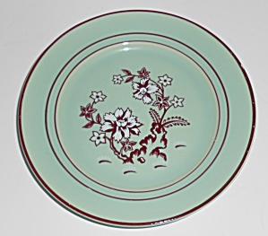 Franciscan Pottery Tiger Flower Celadon Bread Plate