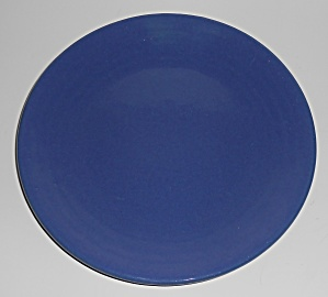 Bauer Pottery Ring Ware 1st Period Cobalt 9.5'' Plate (Image1)