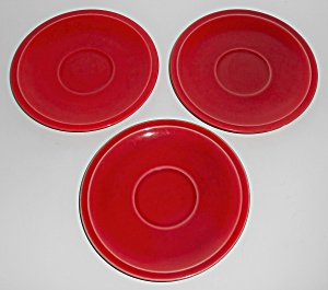 Franciscan Pottery Montecito Ruby Set/3 Saucers