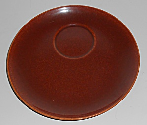 Franciscan Pottery El Patio Redwood Gloss Snack Plate  (Image1)