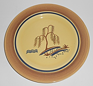 Franciscan Pottery Very Rare Willow Salad Plate (Image1)