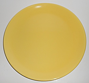 Franciscan Pottery El Patio Gloss Yellow Chop Plate (Image1)