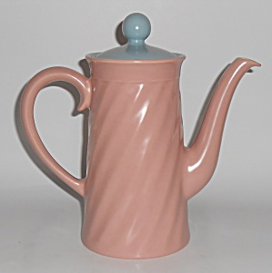 Franciscan Pottery Wishmaker Coral/Blue Coffee Pot (Image1)