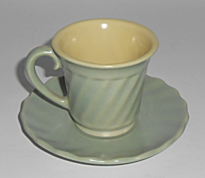 Franciscan Pottery Wishmaker Green/yellow Demitasse Cup