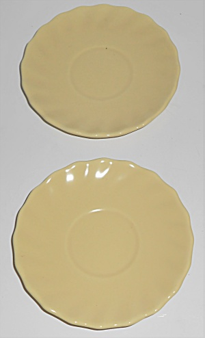 Franciscan Pottery Wishmaker Pair Yellow Demitasse Sau (Image1)
