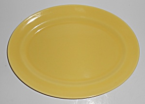 Franciscan Pottery El Patio Gloss Yellow Platter (Image1)