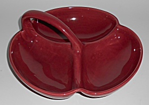 Franciscan Pottery El Patio Maroon Handled Reish Dish