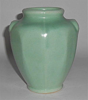 Camark Pottery Frosted Green #409 Die Marked Vase