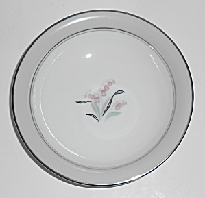 Noritake Porcelain China Lilybell W/platinum Fruit Bowl
