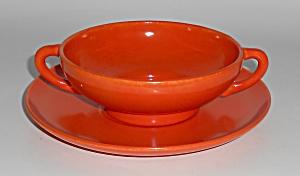 Franciscan Pottery El Patio Flame Orange Cream Soup  (Image1)