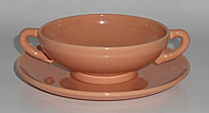 Franciscan Pottery El Patio Gloss Coral Cream Soup Bowl (Image1)