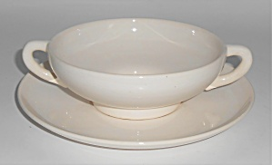 Franciscan Pottery El Patio Gloss White Cream Soup Bowl