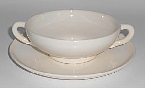Franciscan Pottery El Patio Gloss White Cream Soup Bowl (Image1)