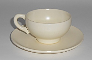 Franciscan Pottery El Patio Satin Ivory Demi Cup/saucer
