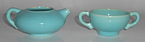 Franciscan Pottery El Patio Gloss Turquoise Demitasse C