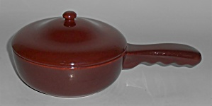 Franciscan Pottery El Patio Redwood Gloss Handled Baker