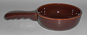 Franciscan Pottery El Patio Redwood Gloss Handled Baker (Image1)