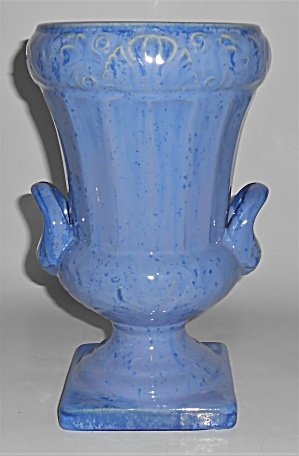 Fulper Art Pottery Blue Flambe' Twin Handle Vase