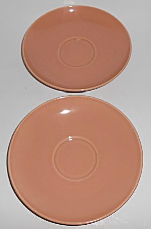 Franciscan Pottery El Patio Gloss Coral Jumbo Saucer (Image1)