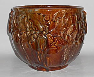 Brush Mccoy Pottery Brown Onyx Large Jardiniere