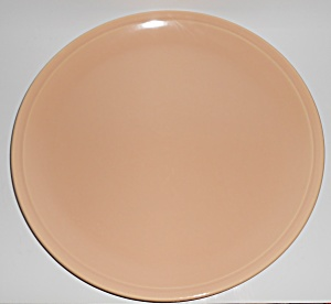 Franciscan Pottery Montecito Gloss Coral Chop Plate  (Image1)