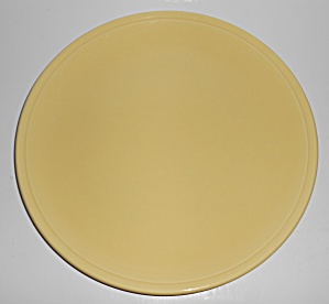 Franciscan Pottery Montecito Gloss Yellow Chop Plate