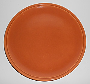 Franciscan Pottery Montecito Gloss Copper Chop Plate (Image1)