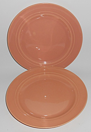 Franciscan Pottery Montecito Gloss Coral Pair Lunch Pl