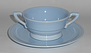 Franciscan Pottery Montecito Gloss Lt Blue Cream Soup W