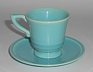 Franciscan Pottery Montecito Gloss Turquoise Demi Cup/S (Image1)
