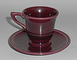 Franciscan Pottery Montecito Eggplant Demi Cup/saucer S