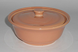 Franciscan Pottery Montecito Gloss Coral Covered Soup B