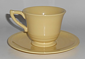 Franciscan Pottery Montecito Gloss Yellow Cup & Saucer